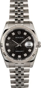 Rolex Datejust 116234BKDO Diamond Dial