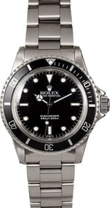 Vintage Rolex Submariner 5513 Black Dial