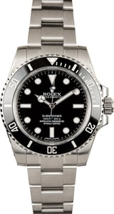 Unworn Rolex Submariner 114060 Black Ceramic Bezel
