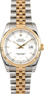 Men's Rolex Datejust 116233 White Dial