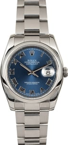 Men's Rolex Datejust 116200 Blue Roman Dial