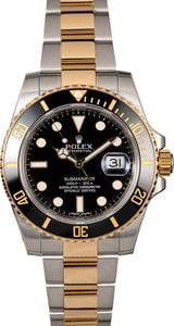 Used Rolex Submariner 116613 Two Tone Ceramic Bezel