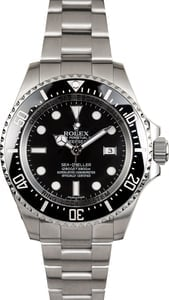 Factory Stickered Men's DeepSea Rolex 116660BKSO