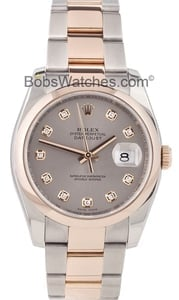 Used Men's Rolex DateJust Watch Rose Gold 116201