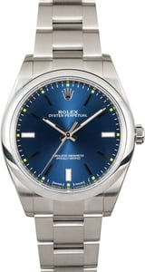 Unworn Rolex Oyster Perpetual 114300 Blue Dial