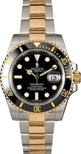 Certified Rolex Submariner 116613 Black Ceramic Bezel