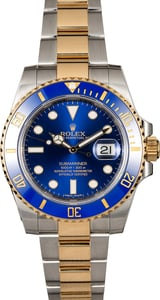Certified Rolex Submariner 116613 Sunburst Blue Dial