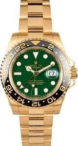 Rolex Gold GMT Master II 116718 Green Dial