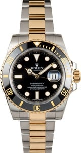 Pre-Owned Rolex Submariner 116613 Black Luminescent Dial