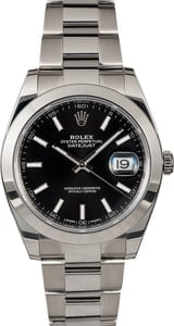 Used Rolex Datejust 126300 Black Dial