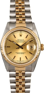 Rolex Datejust 16233 Champagne Dial Men's Watch