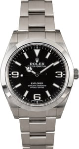 PreOwned Rolex Explorer 214270 Luminescent Markers