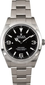 Rolex Explorer 214270 Luminescent Arabic Hour Markers
