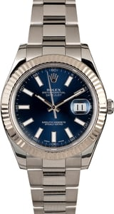 Rolex Datejust II Ref 116334 Blue Luminescent Dial