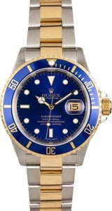 Rolex Submariner Blue 16613 Two Tone Oyster Bracelet