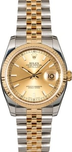 Rolex Datejust 116233 Champagne Dial Two Tone Jubilee