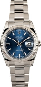 Rolex Datejust 116234 Blue Luminescent Dial
