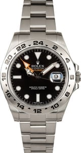 PreOwned Rolex Explorer II Ref 216570 Black Dial with Steel Oyster