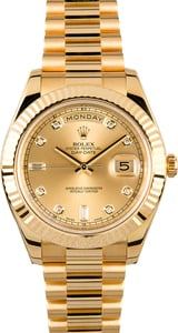 Rolex Day-Date 218238 Champagne Diamond Dial President