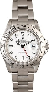 Pre Owned Men's Rolex Explorer II Ref 16570 White 'Polar' Dial
