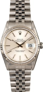 Men's Rolex Datejust 16234 Silver Dial