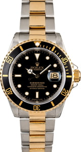 Rolex Submariner 16613 Two Tone Oyster Men's Watch