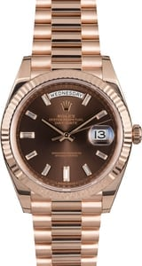 Rolex Presidential Rose Gold 228235 Diamonds