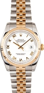 Rolex Datejust Two-Tone 116233 White Roman