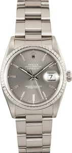 Rolex Datejust 16220 Slate Tapestry Dial
