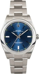 Rolex Oyster Perpetual 114300 Blue Index Dial 39MM