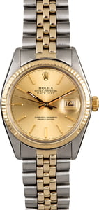 Rolex Datejust 16013 Two Tone Oval Link