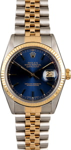 Two Tone Rolex Datejust 16013 Blue Dial