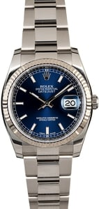 Rolex Datejust 116234 Blue Dial Steel Oyster