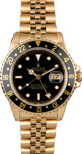 Rolex GMT-Master 16758 18K Yellow Gold Jubilee