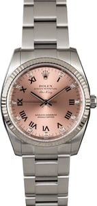 Rolex Air-King 114234 Salmon Diamond Roman Dial
