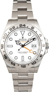 Used Rolex Explorer II Ref 216570 Stainless Steel White 'Polar'