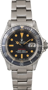 Vintage 1975 Rolex Red Submariner 1680