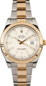 Rolex Datejust II Ref 116333 Ivory Index Dial