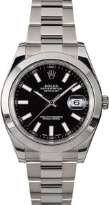 Rolex Datejust 116300 Black Dial Men's Watch