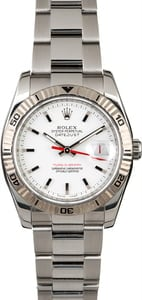 Rolex Datejust 116264 White Dial Turn-O-Graph