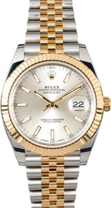 Rolex Datejust 126333 Silver Dial with Factory Stickers