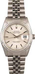 Rolex Datejust 16220 Silver Dial Steel with Jubilee Band