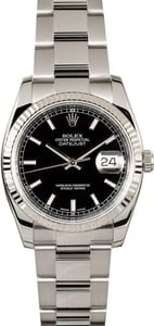 Rolex Datejust 116234 Black Dial with Steel Oyster