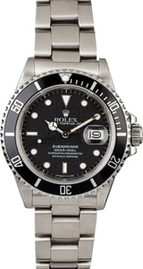 Steel Rolex Submariner 168000