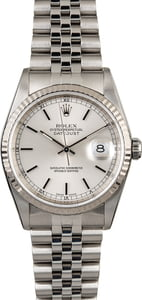 Rolex Datejust 16234 Silver Dial with Steel Jubilee