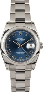 Unworn Rolex Datejust 116200 Blue Dial