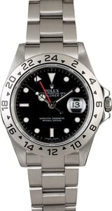 Rolex Explorer 16570 Black Dial with Steel Oyster