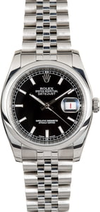 Unworn Rolex Datejust 116200 Black Dial