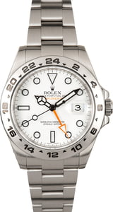 Used Rolex Explorer II Steel 216570 White 'Polar' Dial