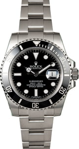 Used Rolex Submariner 116610 Black Ceramic Bezel Model